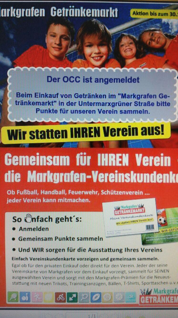 Sammelt mit uns beim Markgrafen Getränkemarkt | OCC-Oelsnitz