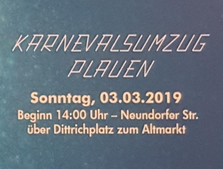 Karnevalsumzug Plauen @ Neundorfer Str bis Altmarkt Plauen