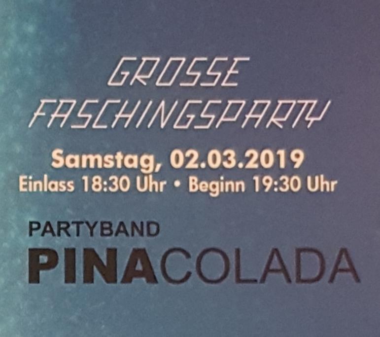 Große Faschingsparty @ Vogtlandsporthalle Oelsnitz